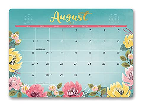 Bold Blossoms Decorative 2018 Desk Blotters: August 2017 - December 2018