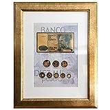 IMPACTO COLECCIONABLES Monedas, Billetes de ESPAÑA - 8 Pesetas Bañadas en Oro 24 Quilates + 1 Billete de 10.000 Pesetas en Oro 24 Quilates