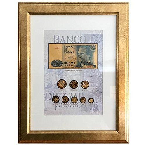 Monedas, billetes de ESPAÑA - 8 pesetas bañadas en Oro 24 quilates +