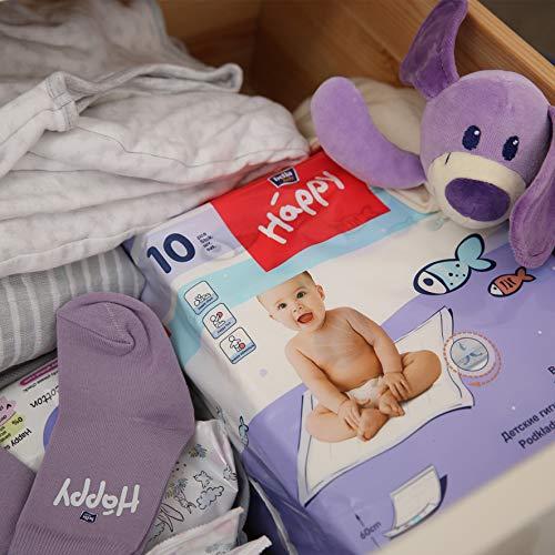 Bella Baby Happy Wickelunterlagen 60 x 60 cm, 4er Pack (4 x 10 Stück) - 3