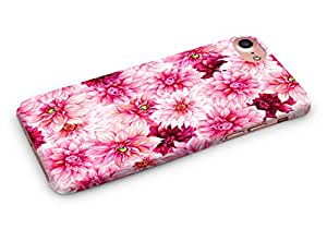 Casography Floral / Flowers Designer Printed Ultra Slim Light Weight Back Case Cover for Apple iPhone 8 - Pink