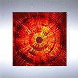 Bild auf Metall - FIRE - abstrakte Bilder moderne Kunst - Metallbild Kunstdruck limitierte Edition auf geschliffenem Aluminium im Edelstahl-Design - beeindruckende Wandbilder
