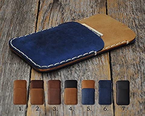 HP Elite x3 Personalized Cover Wallet with Pocket for Cards and Cash, Bovine Leather Case Sleeve Pouch Shell Monogram your Name ( we do these cases any size you want