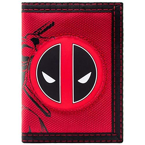 Marvel Deadpool Kämpfen Charakter mit Logo Rot Portemonnaie Geldbörse (Deadpool Videospiel Kostüm)