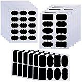 IRICH 260 Pezzi Multifunzione Etichette di Lavagna, Nero Personalizzate Adesivo Lavagna Stickers per Decorare Barattoli Vino Dispensa Casa Ufficio, Barattoli Bottiglie Contenitori