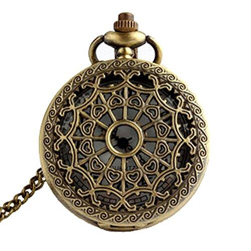 TOOGOO(R) Taschenuhr Steampunk Retro Antik Bronze Quartz Uhr Kette Mit Anhaenger