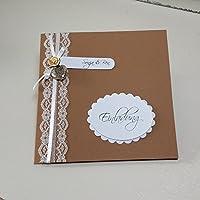 10 Stück Einladungskarte VINTAGE LACE Hochzeit Braun