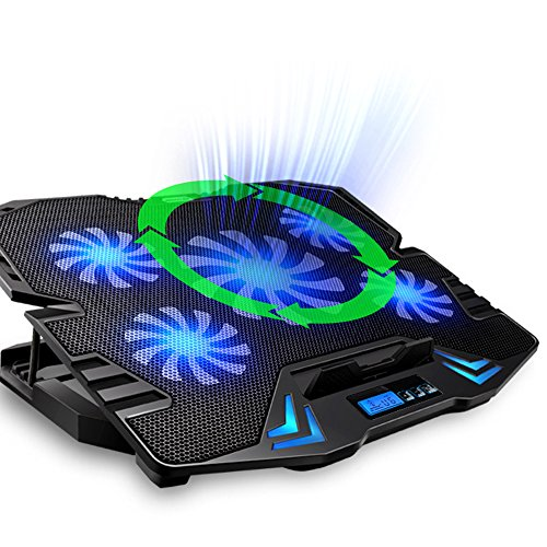 Topmate K5 12 156 Zoll Laptop Cooling Pad Gaming Laptop USB Ventilator Khler mit 5 Fans bei 2500 Revoltions per minute geringes Gewicht super mobile or portable und flsterleisen fr PC Macbook Laptop Notebook und mehr Khlpads