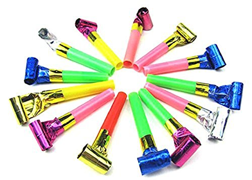 Concept Toys Online Party Noisemakers, ShowTop 50 Packs Whistles Toys for Birthday Party , Christmas Party, Children Party,