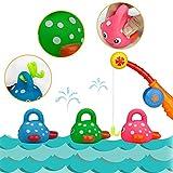 TONZE Wasserspielzeug Angelspiel Kleinkindspielzeug Badespielzeug Geschenk für Kinder Kleinkind (4 pcs)