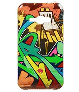 Jkobi Exclusive Rubberised Back Case Cover For Samsung Galaxy J1 Ace J 1 Wall Paint
