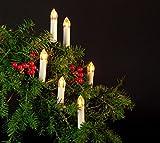 Coen Bakker 30 LED Kerzen 15m Weihnachtsbaumbeleuchtung Warmweiß Außen Christbaumkerzen