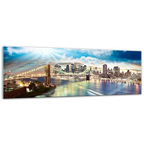 """Wand Bild Größen aus Glas einteilig Glasbild /""""New York City/"""" von DEKOGLAS in v"""