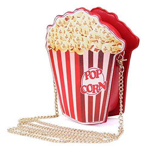 Popcorn Kostüm Muster - Mini Umhängetasche Nette Schultertasche Geldbörse