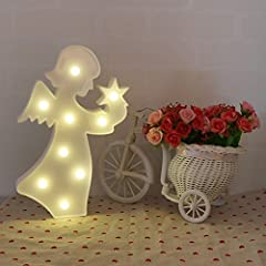 Idea Regalo - Missley Creative Angel LED Night Light Animal Lampada a LED Decorazione romantica Night Light per bambini Camera da letto per bambini