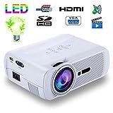 Mini vidéoprojecteur portable LED 1000 Lumens HD Carte SD USB Blanc