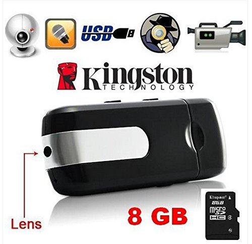 ILS - Registratore Mini USB spia con sensore di movimento Camera DV DVR macchina fotografica AUDIO VIDEO Recorder + 8GB MicroSD - MANUALE IN ITALIANO!!