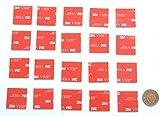 20x transparent doppelseitig klebend Schaumstoff Pads, hergestellt von 3M | 25mm x 25mm Quadratische Selbstklebende Sticker