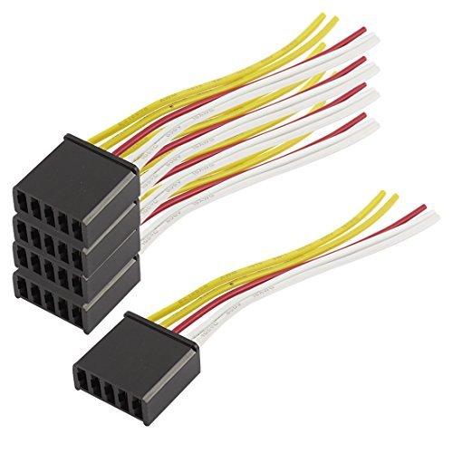 5PCS 5 Pin Kunststoff Fensterheber Schalter Draht-Kabel