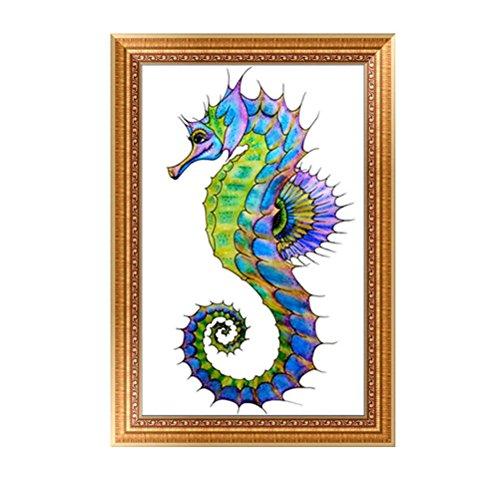 VORCOOL 5D Diamant Malerei Kits, handgemachte Seepferd Strass Stickerei Kreuzstich Arts Craft für Leinwand Wand Dekor (Mosaik-wand-dekor Für Wohnzimmer)