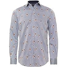 Guide London Hombres camiseta rayas chica pin-up Marina De Guerra