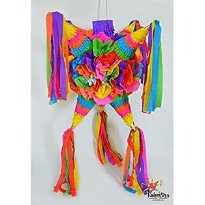 Blumige Stern-Piñata mit 7 Spitz