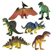 FOGAWA 6 Pcs Dinosaur Figure Plastic Dinosaur Toy for Kids Tyrannosaurus Stegosaurus Triceratops Utahraptor Spinosaurus Pterosaur Set Gifts for Boys Girls Toddlers Ntellectual Development, Decoration