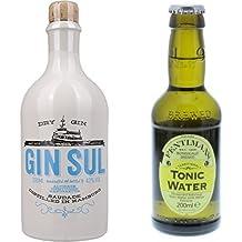 Gin Sul (1 x 0.5 l) mit Fentimans Tonic Water, 12er Pack (12 x 200 ml)