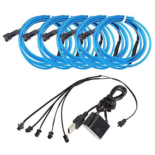 Neon Beleuchtung 1m EL Kabel Wire mit USB Kontroller Flexibel Wasserdicht Innenbeleuchtung für Weihnachten Halloween Partys Kostüm Autos Dekor Geschenk