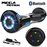 "Mega Motion Self Balance Scooter 6,5""-2018 Elektro Scooter E-Skateboard- Scooter - UL zertifizierten 2272 LED - Räder mit LED Licht -Bluetooth Lautsprecher – 700W Motor"