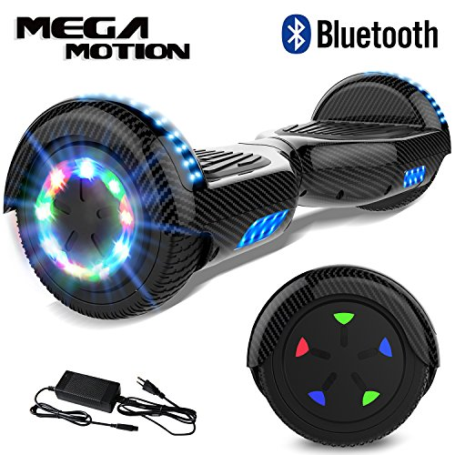 "Mega Motion Hoverboard Self Balance Scooter 6,5"" -2018 Elektro Scooter E-Skateboard-Scooter - UL zertifizierten 2272 LED - Räder mit LED Licht -Bluetooth Lautsprecher - 700W Motor"