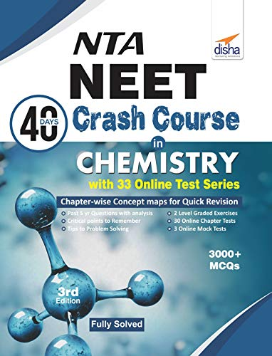 NTA NEET 40 Days Crash Course in  Chemistry with 33 Online Test Series