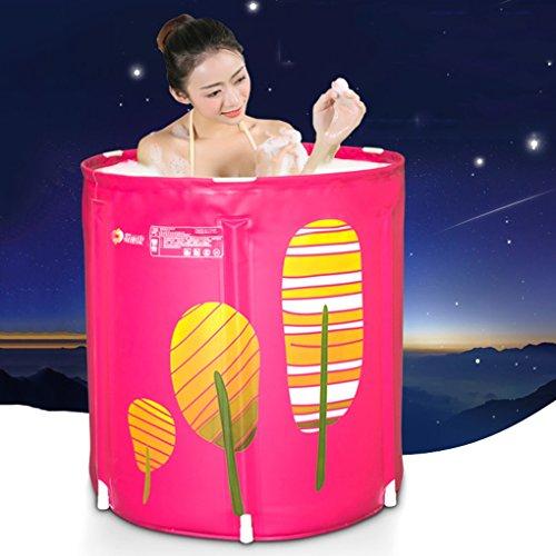 Sweet Bathtub Aufgefülltes Isolierungs-Fass-Bad, rosafarbene Bananen-Blatt-erwachsene faltende Stand-Wanne, aufblasbare Badewanne des Plastikhaushalts-Erwachsenen (größe : 65*70cm) - Bananen-bad