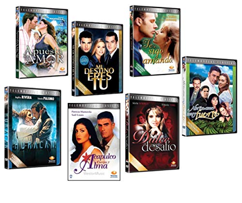 7 Different DVD Boxsets * Spanish TELENOVELAS * Novelas (17 Dvds) (Dvd De Novelas)