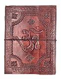 kooly zen - Carnet, bloc notes, journal, livre, Cuir Véritable, Vintage, Om, Aum, 15cm X 20cm, papier premium