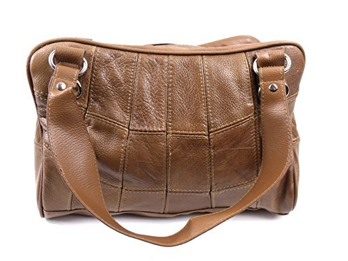 The Leather Emporium, Borsa tote donna Braun - Tan
