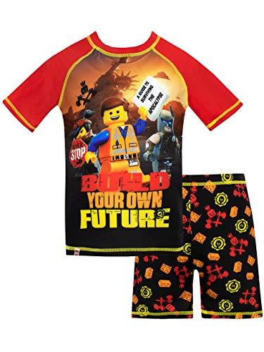 Lego Movie Bañador de Dos Piezas para niño Negro 7-8 Años