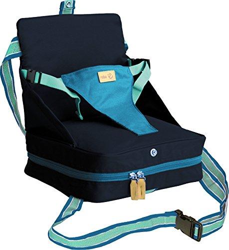 roba Boostersitz petrol/anthrazit, mobiler aufblasbarer Kindersitz als Sitzerhöhung und Reisesitz, ideal als Hochstuhl für unterwegs für Babys und Kleinkinder