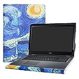 Alapmk Specialmente Progettato PU Custodia Protettiva in Pelle Per 15.6' Acer Spin 5 15 SP515-51GN SP515-51N & Acer Nitro 5 Spin NP515-51 Series Notebook (Non compatibili con: Spin 5 13.3 Series),Starry Night