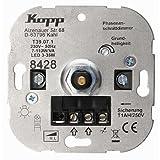 Kopp 842800008integriertem Dimmer Dimmer–Regulierungsbehörden (Dimmer, Eingebaut, Knöpfe, Rotation, grau, Thermoplast, IP20)