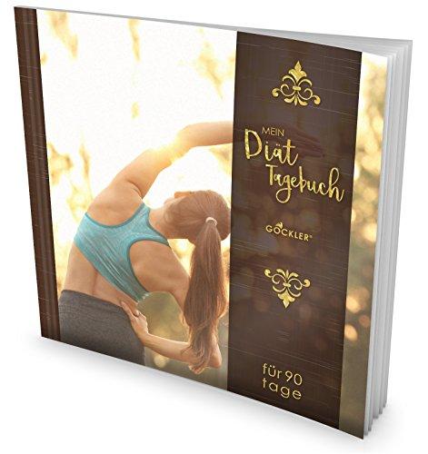 """GOCKLER® Diät-Tagebuch: Das 90 Tage Abnehmtagebuch zum Ausfüllen • Professionell gestaltet, Softcover mit glänzendem Finish • Motiv """"Aufwärmen"""" • Ein Ernährungstagebuch zum Abnehmen"""