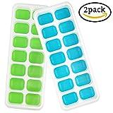 2er Pack XXL Eiswürfelform für je 8 riesige Eiswürfel - 5 x 5 cm Jumbo Eiswürfel - Silikonform ohne BPA