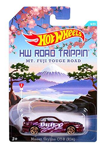 Hot Wheels Road Trippin' Series - MT. Fuji Touge Road - Nissan Skyline GT-R (R34) - 9 of 21 (Dark Purple Col) by Hot Wheels