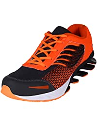 Camfoot Men's Orange Laceup Casual Wear/Sports Running Shoes/Walking Running Sneakers (10, Orange)