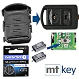 Repair Reparatur Satz Gehäuse Funkschlüssel Fernbedienung Autoschlüssel Gehäuse 2X Mikrotaster 1x CR2032 Batterie für Opel