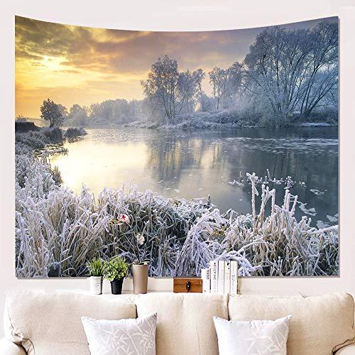 xkjymx Home Snow Wall Cloth Appeso Sfondo di Stoffa Pittura su Stoffa Arazzo W180812-G028