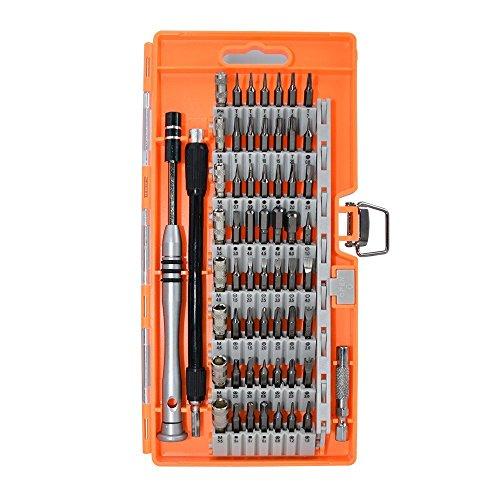 Preisvergleich Produktbild Magnetische Schraubendreher Set, Ajudy 60-in-1 Werkzeugset Schraubendreher mit 56 Bits, Präzisions Schraubenzieher Set, Reparaturset Tool für Elektronik/ XBOX/Smartphone/Tablet/PC/MacBook Gruen