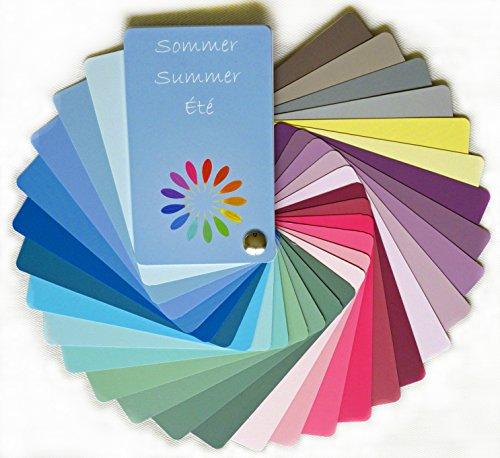 farbkarte sommertyp Farbpass Sommer (cool Summer) als Fächer mit 30 typgechten Farben zur Farbanalyse, Farbberatung
