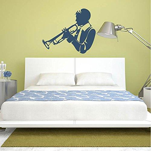 Trompeter-Silhouette-Musiker-Band-Logos-Wandsticker-Musik-Dekor-Art-Decals-verfgbar-in-5-Gren-und-25-Farben-X-Gro-Wei