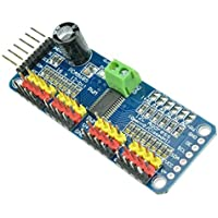 CAOLATOR PCA9685 Controlador de Motor PWM de 12 Bits de 16 Canales Interfaz IIC Módulo I2C para Robots Arduino